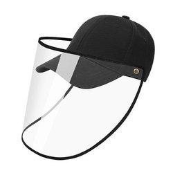 Czapka z daszkiem - czarna z białą lamówką - Bejsbolówka