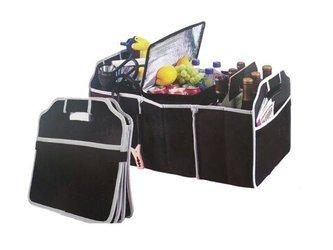 Organizer Samochodowy - Torba do bagażnika na zakupy z 3 przegródkami