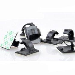 Organizer do kabli WCC2 19x15mm - 10szt - uchwyt na przewód - klips samoprzylepny