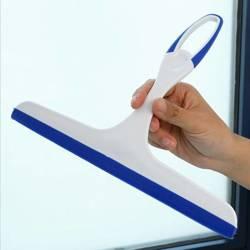 Ściągaczka wody z szyb okien kabin - gumowa - biało-niebieska