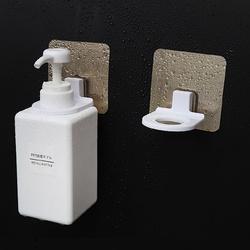 Uchwyt ścienny na żel mydło szampon - biały - Wieszak na butelkę - Haczyk
