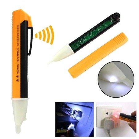 Detektor - Wykrywacz kabli, napięcia i pola elektrycznego - 90-1000VAC - bezdotykowy