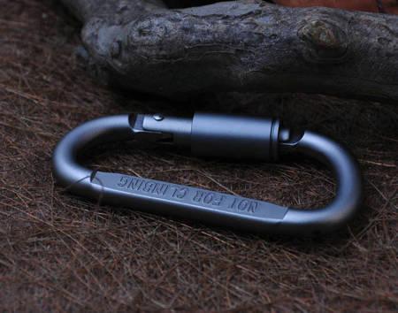 Karabińczyk aluminiowy zakręcany Typu-D - 80mm - Karabinek - Survival - EDC