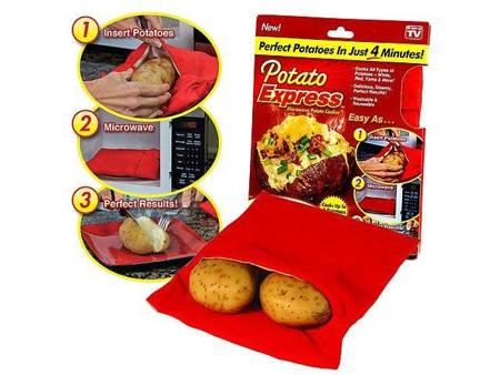 Kieszeń Rękaw do pieczenia ziemniaków w Mikrofalówce - Potato Express