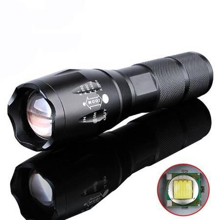 Latarka Taktyczna Policyjna - LED CREE XM-L T6 - ZOOM
