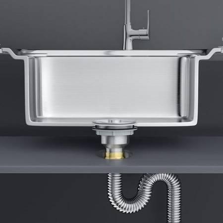 Syfon do zlewozmywaka 1-komorowego - elastyczny wąż ze stali nierdzewnej