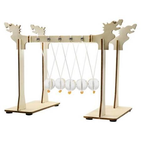 Wahadło Newtona 5 kulek - DIY - Drewniana Zabawka Edukacyjna