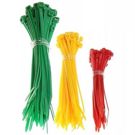 Zestaw 60szt - Trytytki kolorowe - opaska zaciskowa nylonowa - Trytytka 3 rodzaje